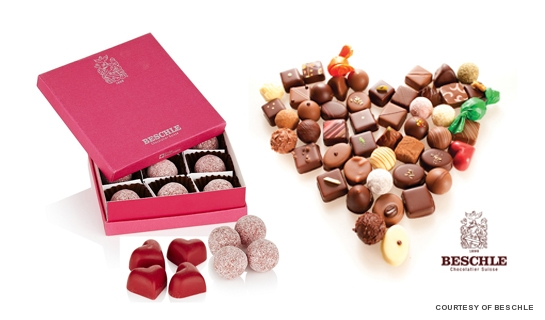 Beschle is a family-owned Swiss confiserie and chocolaterie that offers the fine quality chocolates like Champagne Truffles and Valentine's Day favourite, Rosewater Hearts.